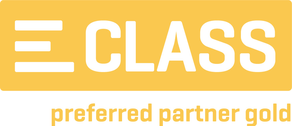 Logo des Produktstammdaten-Standard ECLASS in gold