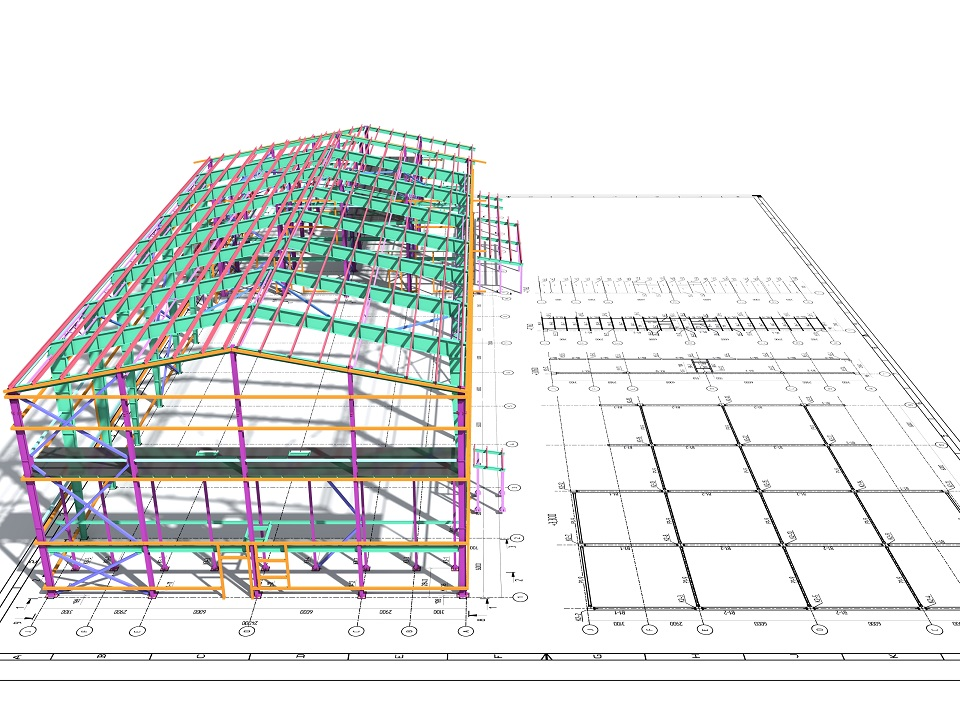 Digital model of a building for the BIM